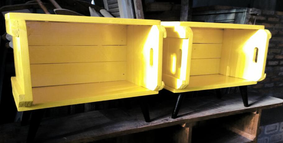 DIY: fazendo um criado mudo com caixote